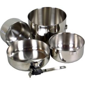 Basic Nature Biwak 3 Kochset Stainless Steel